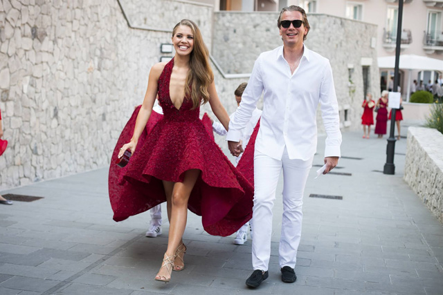 The Swarovski Heiress Tied The Knot In This Sparkly Michael Cinco Gown