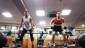 Laureen Uy Tries To Work Out Like Raymond Gutierrez