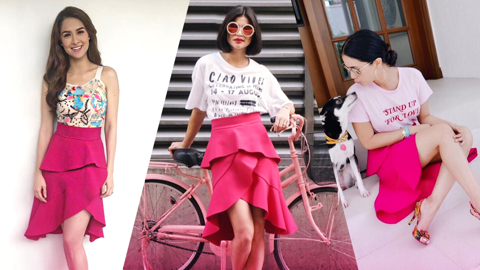 This Pink Ruffle Skirt Seems to Be the New Celebrity Favorite