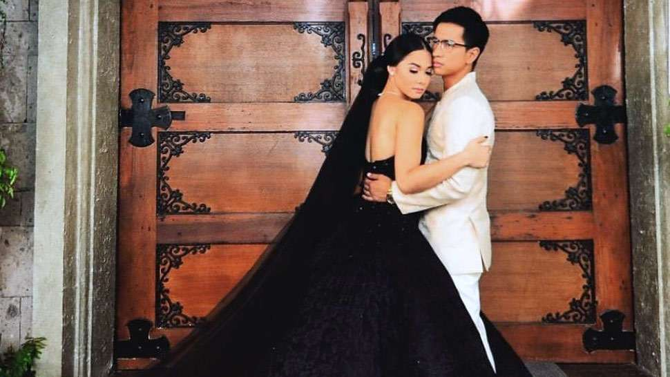 "Maja Salvador Stuns In A Black Wedding Dress In ""wildflower"""
