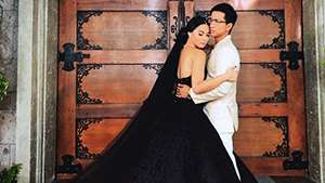 Maja Salvador Stuns In A Black Wedding Dress In