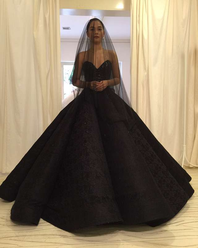Maja salvador stuns in a black wedding dress in wildflower preview there would be bigger and more thought provoking things to come the stylist reveals meaning this wedding is only the beginning for majas character junglespirit Images