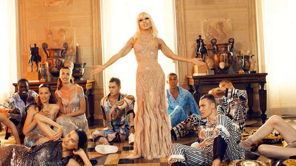 Donatella Versace Lip Syncs To Bruno Mars' Versace On The Floor