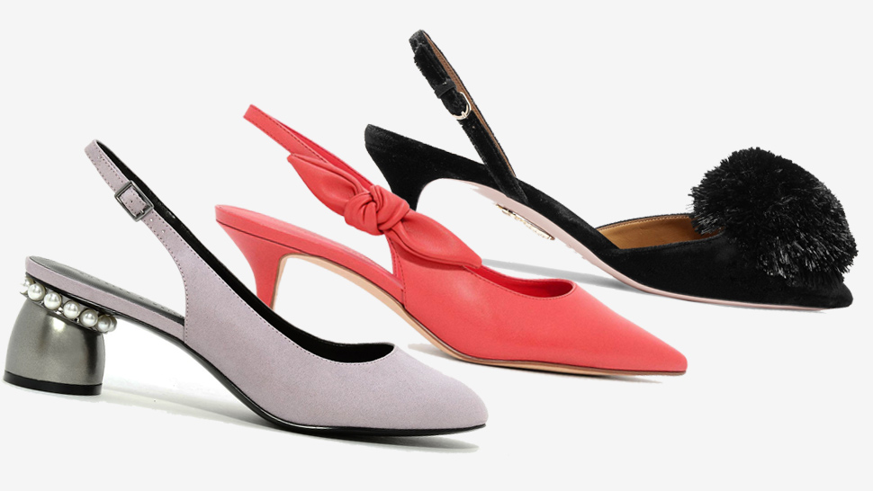 15 Pairs Of Low-heeled Slingback Pumps To Shop Right Now