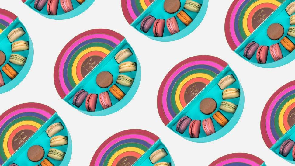 You Have to See Laduree's Rainbow-Themed Macarons