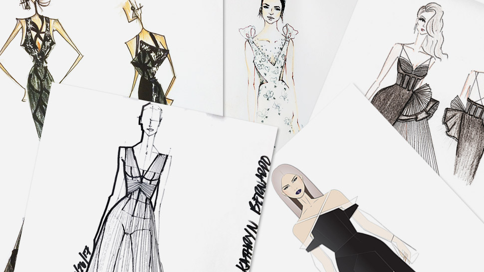 These Designers Sketched Star Magic Ball Gowns For Liza, Kathryn, And Maja