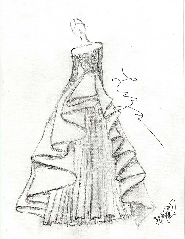 Elegant Ball Gown Drawing _Other dresses_dressesss