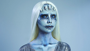 You Have To Watch This Girl Transform Into A White Walker