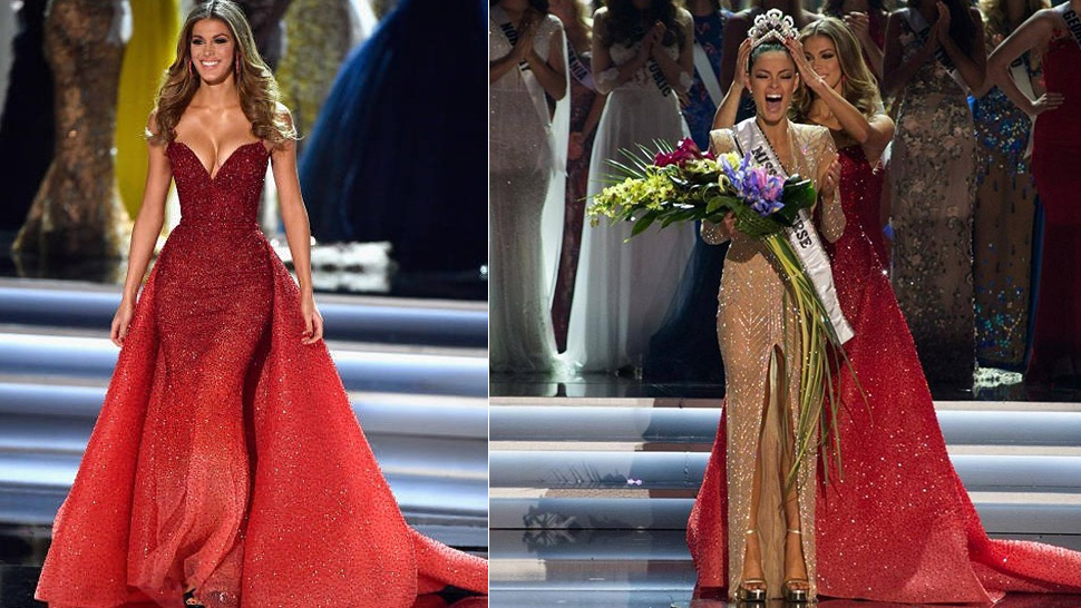Miss Universe 2016 Iris Mittenaere Wore Michael Cinco For Her Final Walk