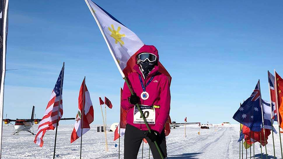 Maggie Wilson is the First Filipina to Finish the Antarctic Ice Marathon