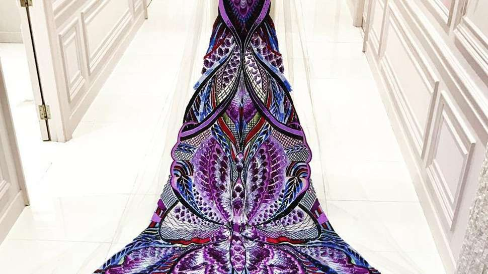 This Swarovski-covered Michael Cinco Piece Is 20 Feet Long