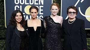 Here's Why These Celebs Wore Black To The Golden Globes