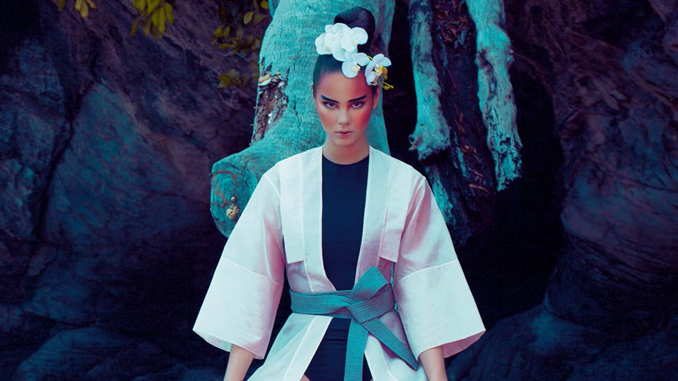 Check Out Our Fashion Editorial with Catriona Gray in a Palawan Cave