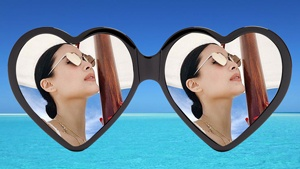 A Pair Of Heart-shaped Sunglasses Is Summer's Hottest Instagram Trend