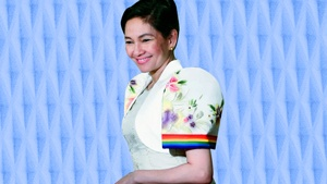 Lotd: Risa Hontiveros Wore A Rainbow-striped Terno To Sona 2018