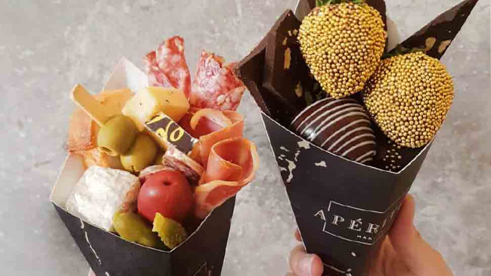 These Designer Graze Cones Are Perfect If You Need Wine And Cheese On the Go