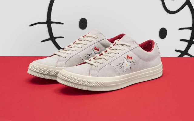 The One Star version comes with a luxe suede upper that offers a different  feel. Converse adds subtle yet iconic elements of Hello Kitty merged with  the key ... 69db148f9