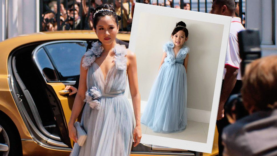 This Little Girl Copying Constance Wu's Crazy Rich Asians Dress Is So Cute
