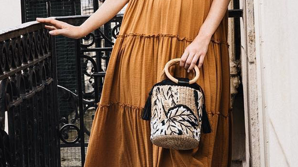 This Exact Aranaz Woven Bag Has Been Featured On Vogue