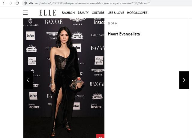 Heart Evangelista Best Dressed at Harper's Bazaar's Icons ...