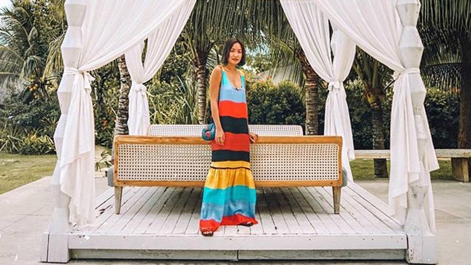 Laureen Uy Shows Us How To Re-wear A Summer Dress On A Rainy Day