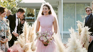 Mandy Moore Wore A Blush Pink Rodarte Gown To Her Wedding