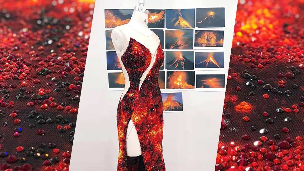 Catriona Gray's Miss Universe 2018 Evening Gown Was Inspired by Lava