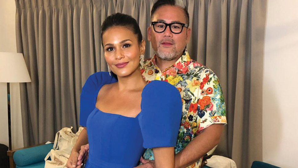 Iza Calzado Wore A Terno To Her Beachside Wedding Party