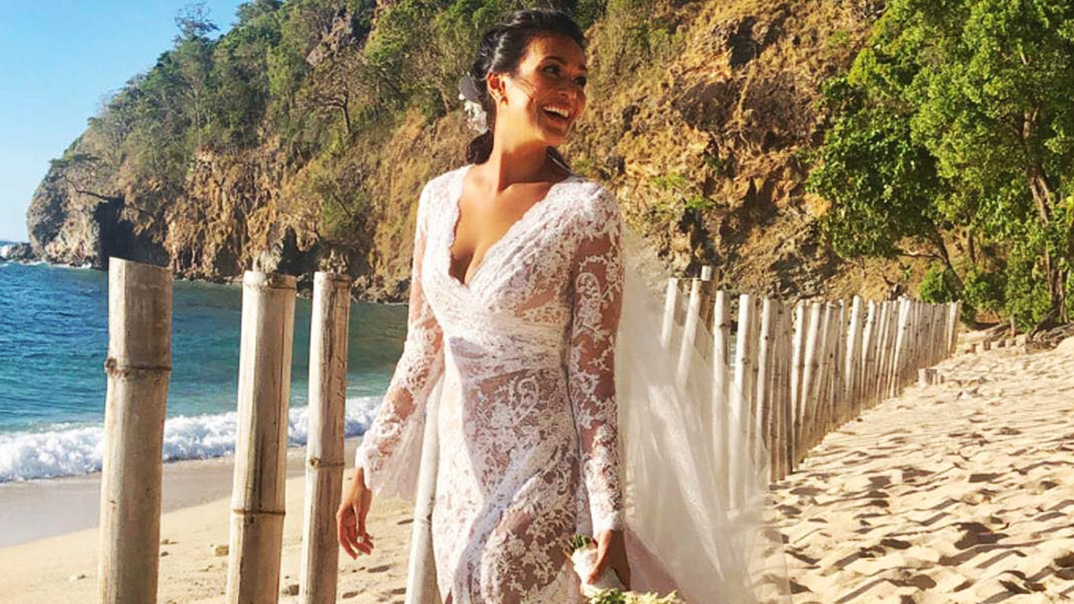 All the Details of Iza Calzado's Boho-Inspired Wedding Gown