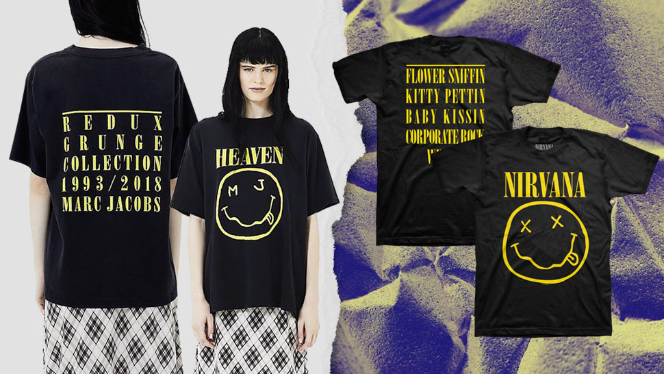 Nirvana Sues Marc Jacobs For Copying The Band's Smiley Face Logo