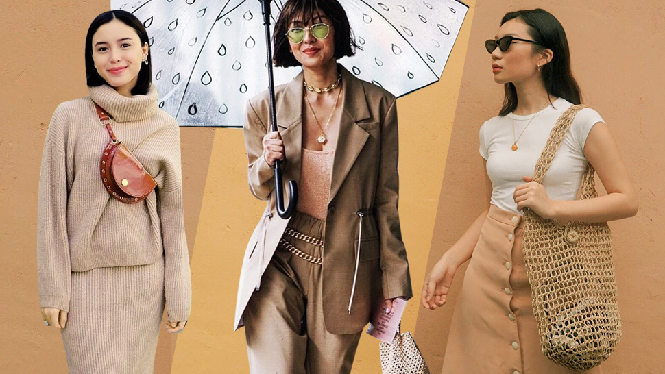 10 Monochrome Beige OOTD Pegs for Your Next Instagram Outfit
