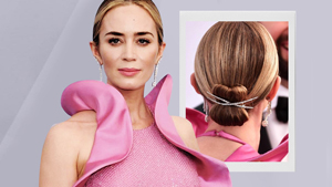 How To Recreate Emily Blunt's Picture-perfect Bun At The Sag Awards