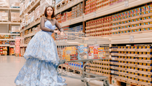 I Channeled Heart Evangelista And Wore Designer Gowns To The Grocery