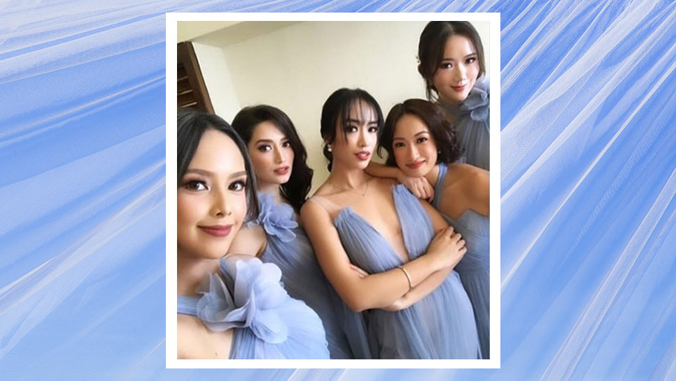 The Blogger Besties Wore Powder Blue Gowns To Kryz Uy's Wedding