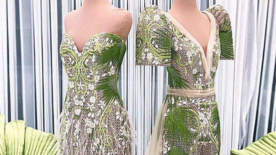 "Here's A Closer Look At Catriona Gray's ""sampaguita"" Dresses"