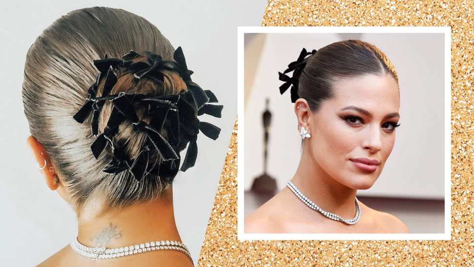 Ashley Graham Wore A Lot Of Ribbons On Her Hair At The Oscars 2019