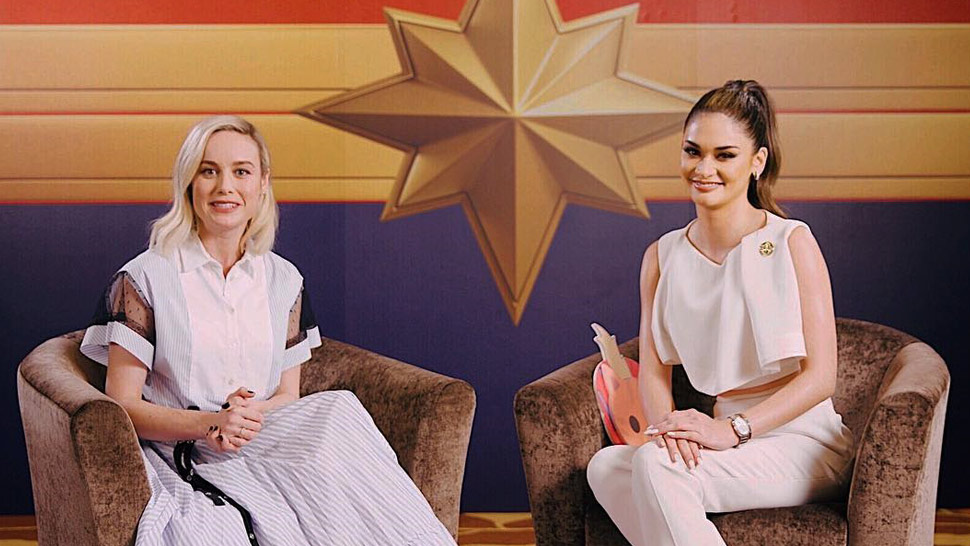 "You Have to Watch Pia Wurtzbach Interviewing ""Captain Marvel"" Brie Larson"