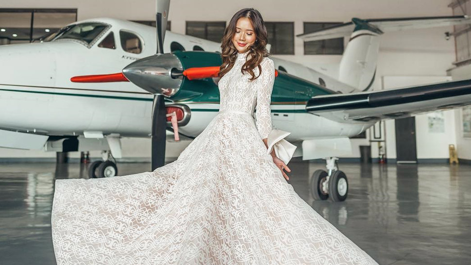 Meet The Local Designer Behind Camille Co's Gorgeous Prenup Shoot Dresses