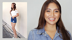 Watch Kathryn Bernardo React To Her Old Outfit Photos