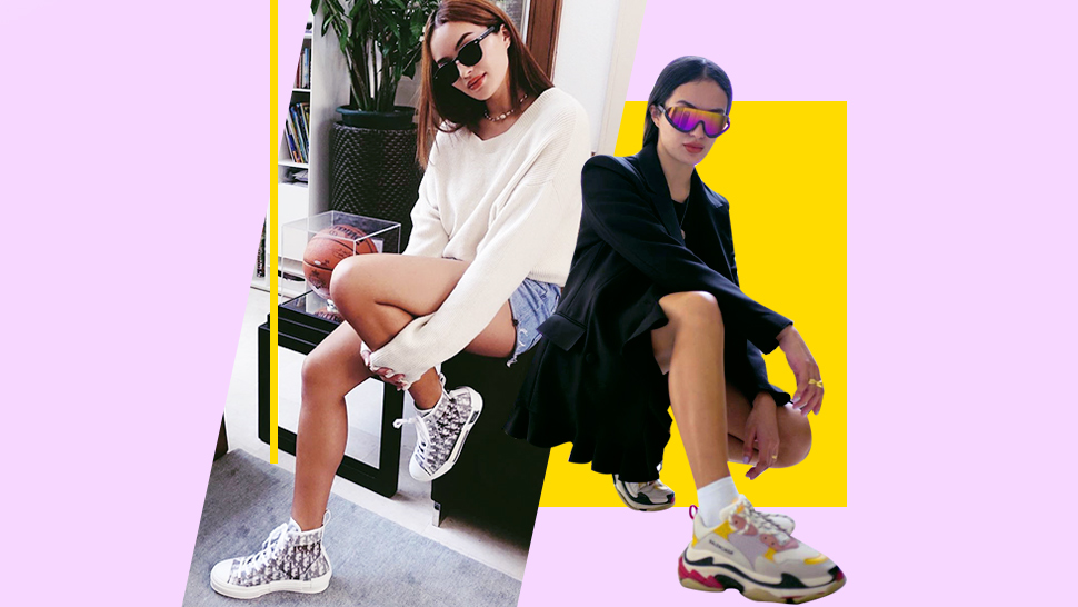 You Have To Check Out Sarah Lahbati's Collection Of Designer Sneakers