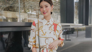 Tricia Gosingtian Has A Dainty Way To Style The Scarf Print Trend
