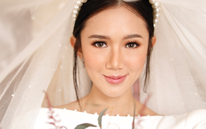 Here's Everything You Need To Know About Camille Co's Rosy Bridal Makeup