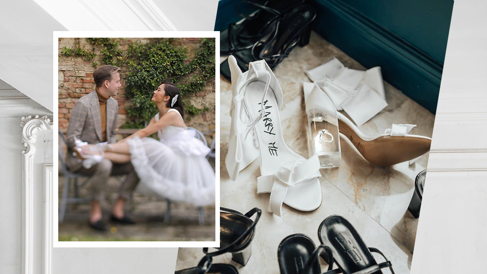 You Have To See These Unique Details Of Camille Co's Wedding Shoes