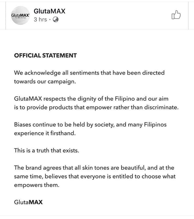 GlutaMAX, GlutaMAX (finally) issues a non half-assed apology