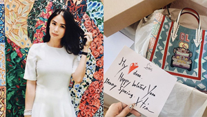 Christian Louboutin Sent Heart Evangelista A Birthday Gift