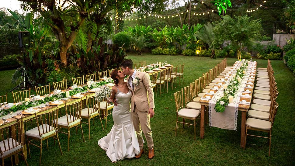 This Couple Got Married in Their Own Backyard