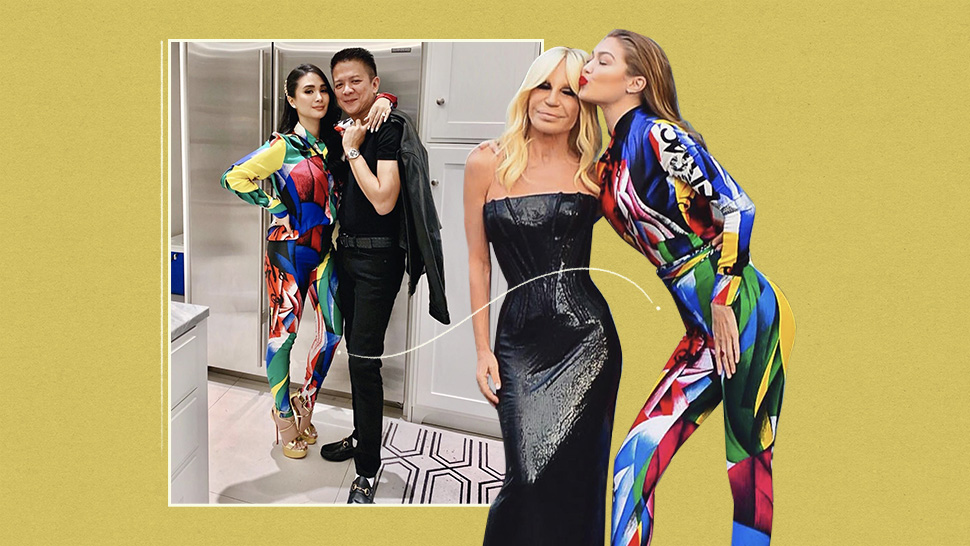 We Spotted Heart Evangelista and Gigi Hadid Twinning in Versace