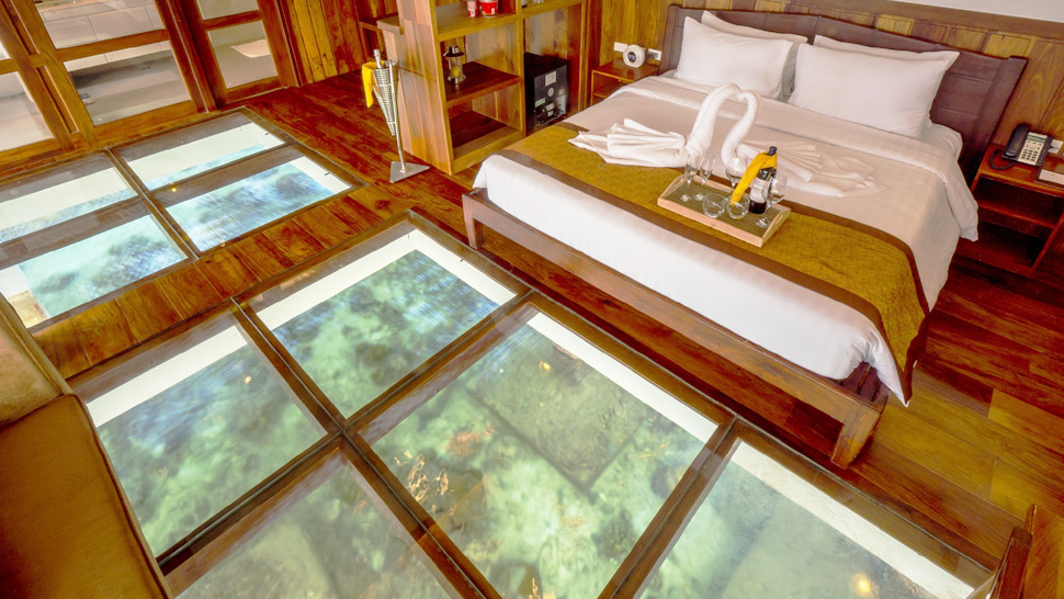 This Island Resort in Palawan Boasts of Water Villas with Glass Floors