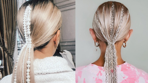 Here's How Chains And Pearls Can Elevate Your Ponytail