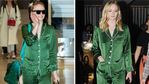We Spotted Sophie Turner Wearing Pajamas From A Party To The Airport